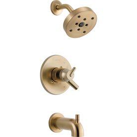 Delta Trinsic Champagne Bronze 1-Handle Watersense Bathtub And Shower