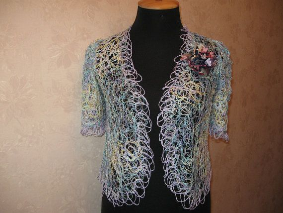 Summer dressy jacket made in the technique crazy vul от kerikfelt