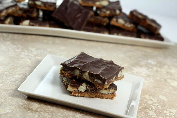 Salted Chocolate Toffee Squares | Recipe