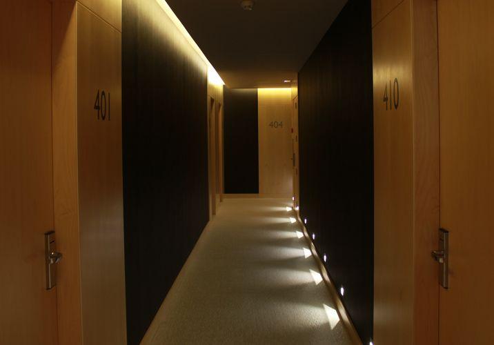 Hotel corridor Bedrooms. Hotel Urpi. Sabadell
