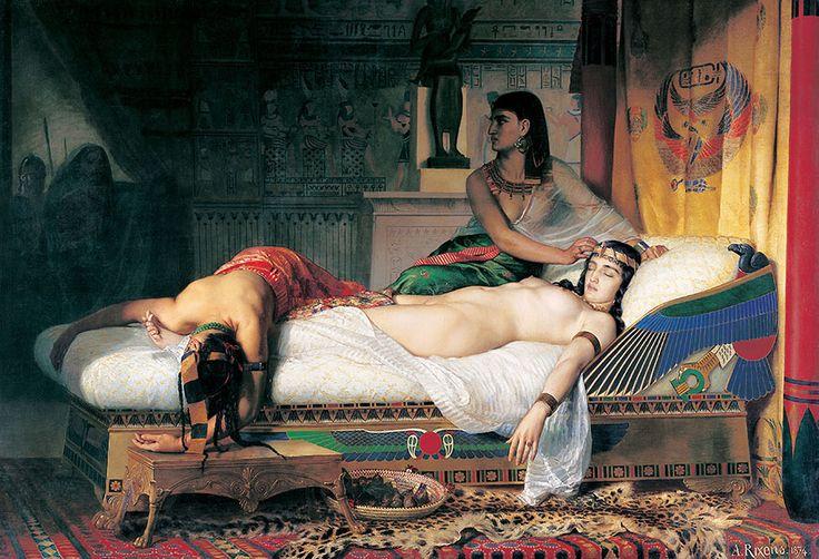 Jean-André Rixens La Mort de Cléopâtre, 1874.