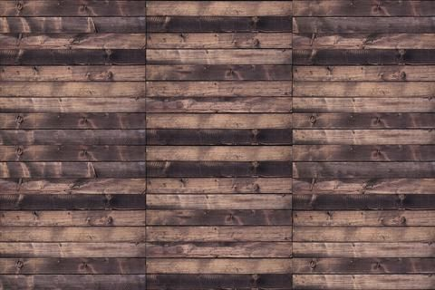 "WALL MURAL INFO: The wood planks are real size! (6-8"" high) Add life..."