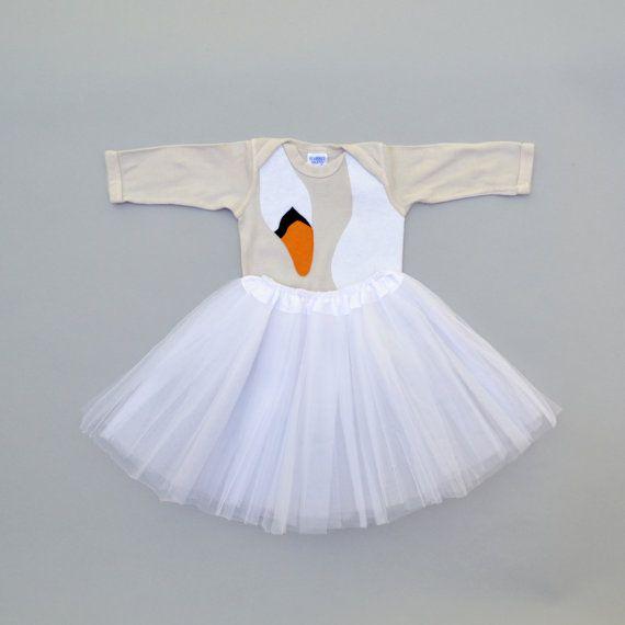 Baby Bjork Swan Dress by TheWishingElephant