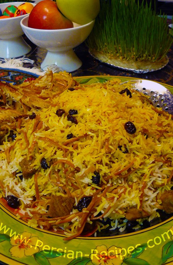 Reshteh polo: Persian Noodle Rice