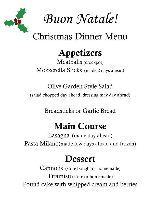 finally finished my christmas dinner menu doing an italian themed dinner everything on the