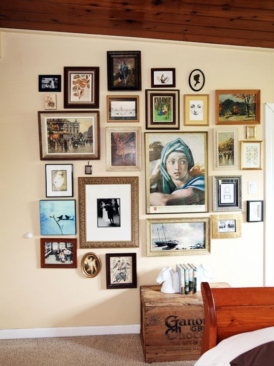 194 best entryway ideas images on pinterest entryway ideas for the home and foyers - Eclectic picture frame wall ...