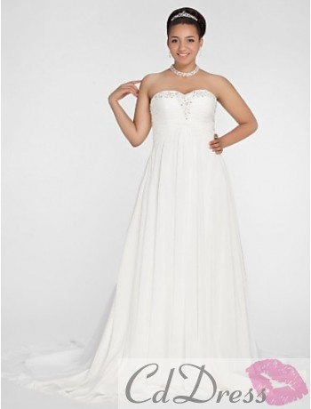 Charming A-line Plus Size Wedding Dress from CDdress