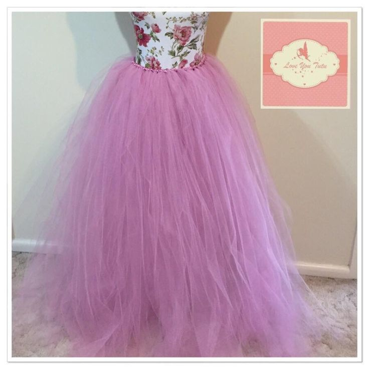 long rose mauve tutu Long tutu skirt made to order any colour #longtutu #loveyoututu