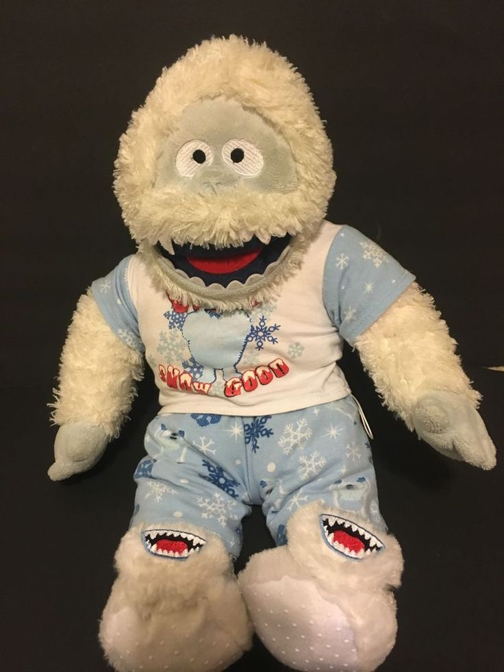 Build a Bear Abominable Snow Man Rudolph Red Nose Reindeer PJ Oufit/Slippers…