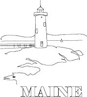 coloring pages for maine - photo#23