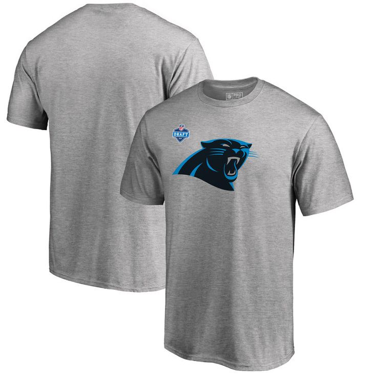Carolina Panthers Pro Line by Fanatics Branded 2017 NFL Draft Athletic Heather T-Shirt - Heather Gray