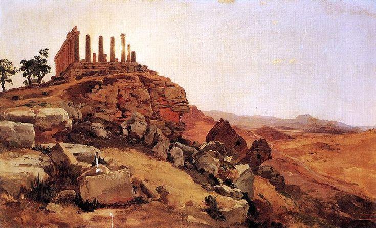 Temple grec de Antal Ligeti (1823-1890, Romania)