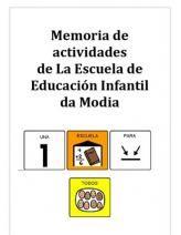 Memoria del Colegio de Educación Infantil. Adaptaciones para niños con TEA