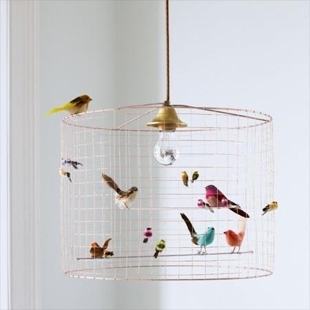Abat-jour cage d'oiseau...