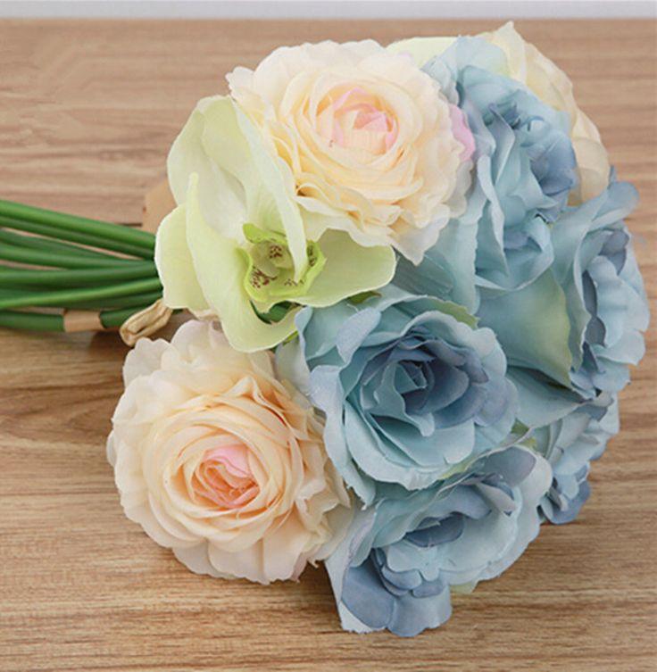 >> Click to Buy << Artificial Camellia Flower Bouquet 27cm Wedding bridal Bouquet Flowers with Rose Camellia Orchid Flower Heads Decorative Flowers #Affiliate