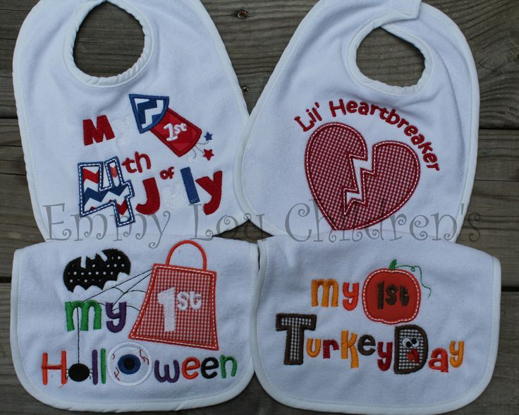 4th of july baby bib