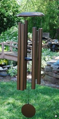 """Our most popular mid-sized chime, the 50"""" Corinthian Bells wind chime is tuned to the key of A and is available in six colors."""