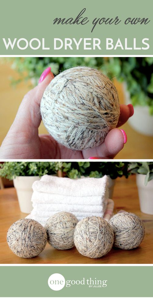 Wool dryer balls cut down on static, save you money, and speed up drying time!