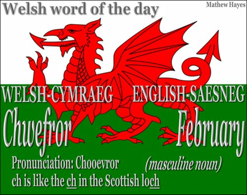 word of the day: Chwefror/ #February http://ift.tt/23UxPnc #Welsh word of the day: Chwefror/ #February