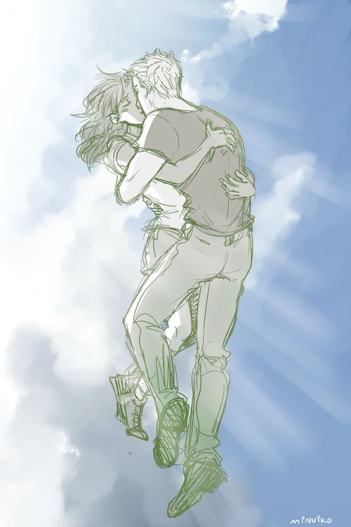 Jason and Piper by minuiko. this is so pretty!