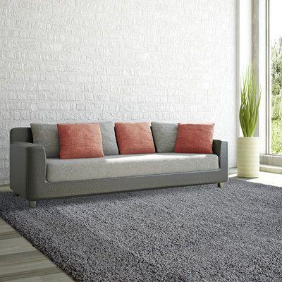 Rug Studio Shag-Ola Charcoal Area Rug Rug Size: 9' x 12'