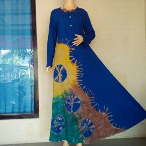 BulBul Hijaz Dress Blue Flurball... WORLDWIDE SHIPPING  #tiedye #bulbulhijaz #fashion