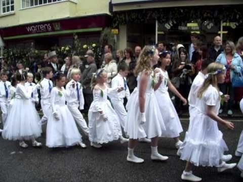 Children's Dance...Flora Day, Helston Cornwall UK -