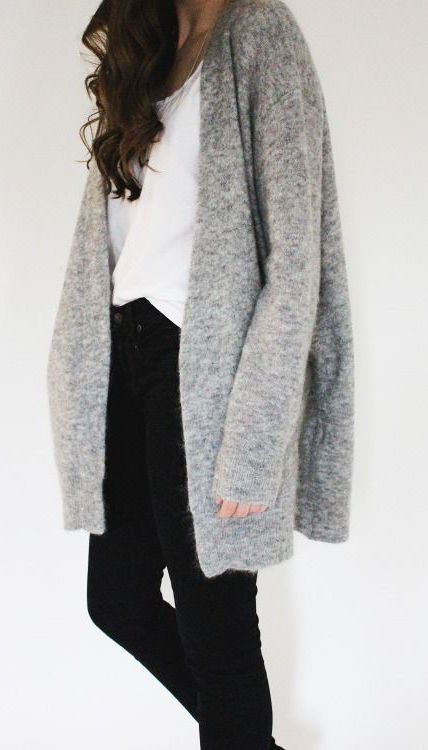 #winter #fashion / casual gray