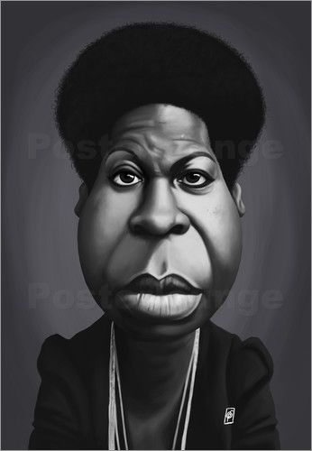 Rob Snow | caricatures - Nina Simone art | decor | wall art | inspiration | caricature | home decor | idea | humor | gifts