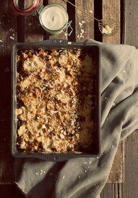 Recept appelcrumble DIY | doe het zelf Zo'n laagje zoet krakerig kruimeldeeg bovenop heerlijk warme appelcompote...Mjammie! www.twoonhuis.nl