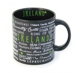 Ceramic Mug with Ireland Graffiti Style Print
