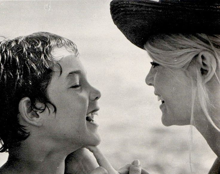Brigitte and her son Nicolas