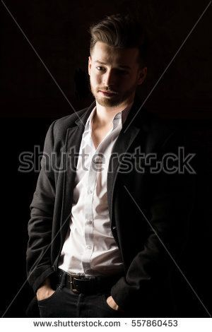 Caucasian man model. High resolution image.