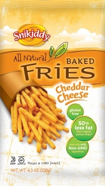 who knew cheddar cheese fries were not all unhealthy? Thank you @Snikiddy -Founder, Mary Schulman (mom to 3). #snikiddysnacks