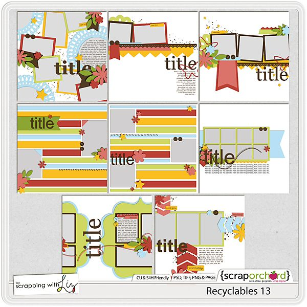 Scrapping with Liz: Fun with Chevron Templates- Free With Purchase