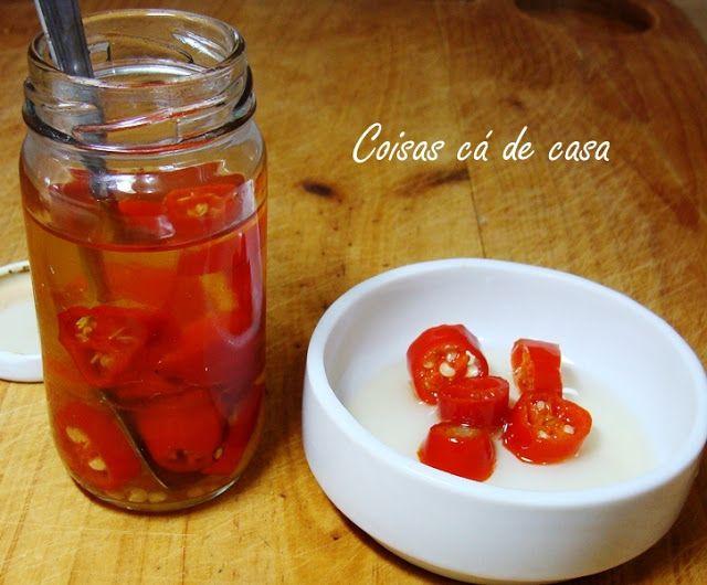 Coisas cá de casa: Conserva de pimenta dedo-de-moça