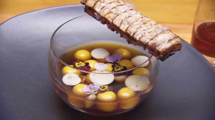 Liquid Gnocchi with Mushroom Consomme Masterchef Australia 2015 www.beerandcroissants.com