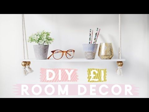 Budget DIY Room Decor from the Dollar Store | Poundland Home Decor DIYs - YouTube