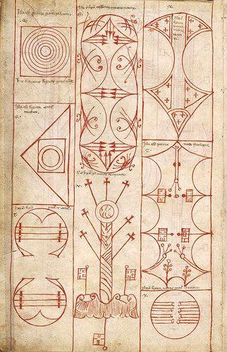 Alchemical Emblems, Apollonius of Tyana: Ars notoria sive Flores aurei 13th century Latin text / Sacred Geometry <3
