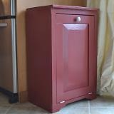 Instructions to make a wood tilt out trash can