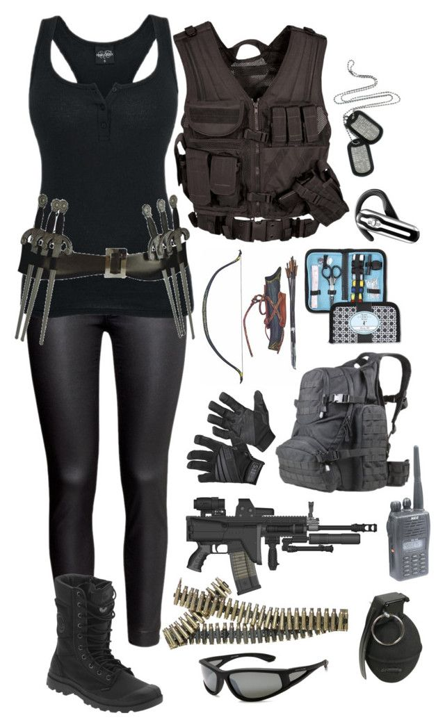 """S.H.I.E.L.D. agent #1"" by emma-directioner-r5er ❤ liked on Polyvore featuring H&M, Palladium, 5.11 Tactical, Body Glove and Plantronics"