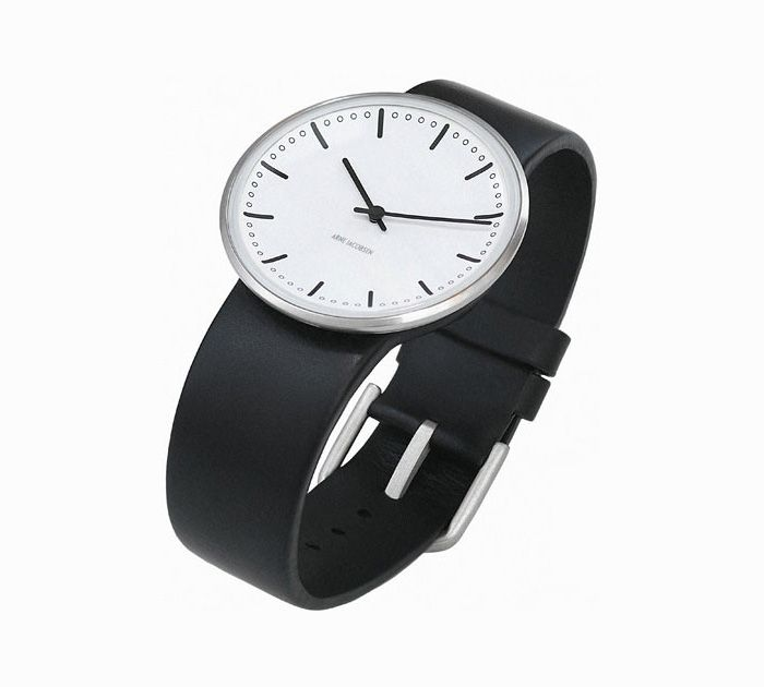 Arne Jacobsen City Hall armbåndsur - flot, simpelt og funktionelt. Til den moderne mand med smag for klassisk dansk design #ure #arnejacobsen #danishdesign