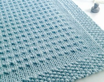 Blanket KNITTING PATTERN / Third Street Blanket / Throw / Afghan / Knit / Gift / Christmas / Wedding / Baby / Easy / PDF Instant Download