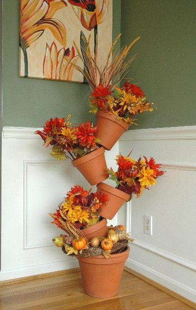 Another lovely Fall arrangement for Flip Flop Flowerpot