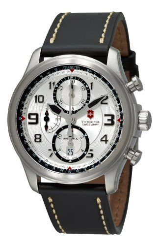 #Victorinox Swiss Army Men's 251449 Infantry Vintage Chrono Automatic Silver Chronograph Dial Watch
