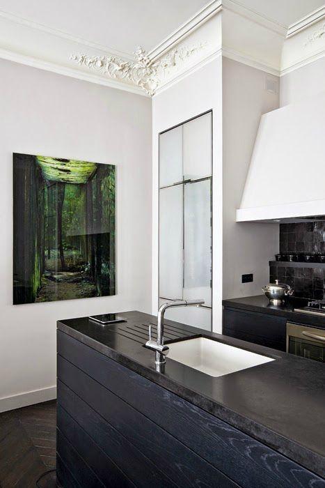 Un blog de decoración a mi manera...: Elegancia parisina en la cocina.