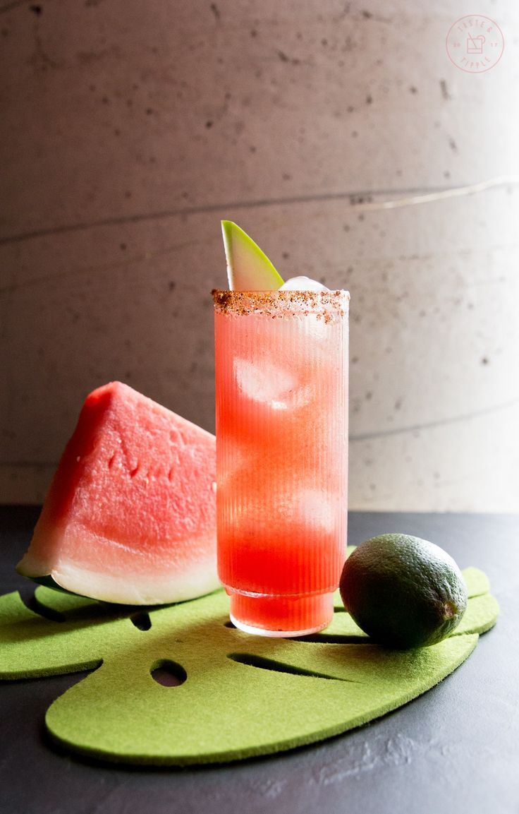 This refreshing watermelon paloma is made with freshly muddled watermelon, lime juice, simple syrup, tequila and spicy c…