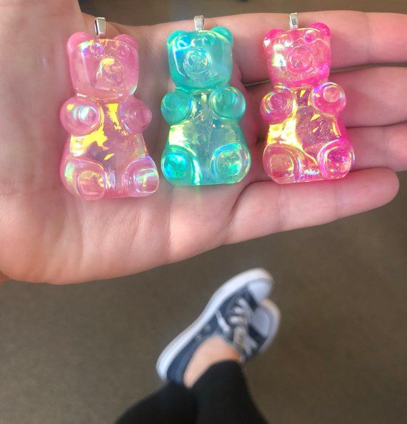 Iridescent Gummy Bear Charm