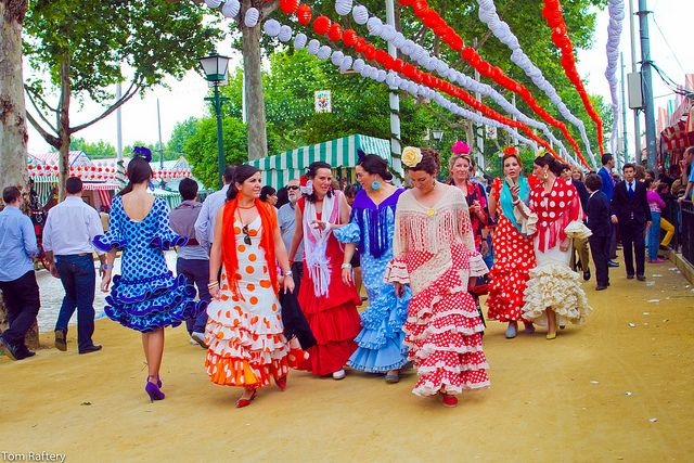 Seville. Spain. Festival. Feria de Abril. Dresses.