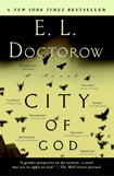 """Employing a multi-voiced narrative that perfectly captures the riffs and rhythms of latter-day New York, then broadens to implicate a cast of characters including scientists, war veterans, prelates, Holocaust survivors, cabinet members, theologians, filmmakers, and crooners, City of God is E. L. Doctorow's most ambitious and intensely personal work."" Penguin blurb - a good summary, but this firecracker of a book doesn't lend itself to a one sentence summary."